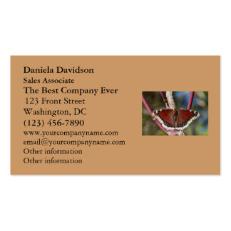 Mariposa de capa de luto tarjetas de visita