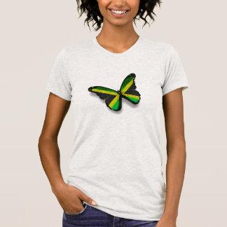 mariposa de la bandera de Jamaica Camiseta