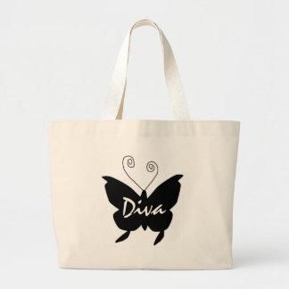 Mariposa de la diva bolsa tela grande
