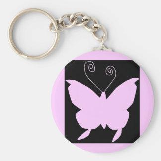 Mariposa de la diva llavero redondo tipo chapa