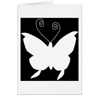 Mariposa de la diva tarjeta de felicitación