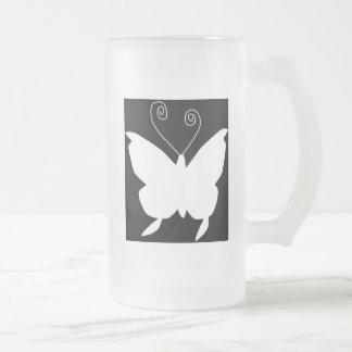 Mariposa de la diva taza cristal mate