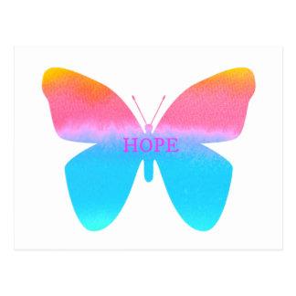 Mariposa de la esperanza tarjetas postales