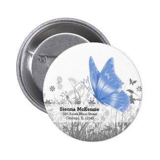Mariposa de la fantasía * elija el color de fondo chapa redonda 5 cm