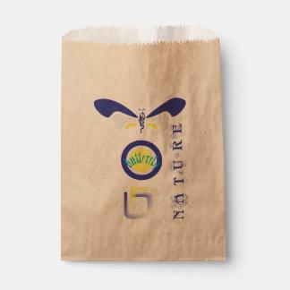 Mariposa de la naturaleza bolsa de papel