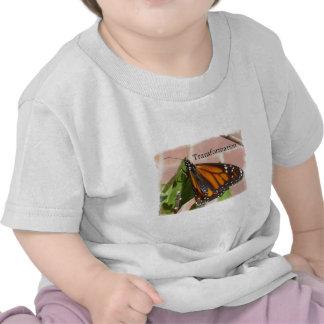Mariposa de la transformación camisetas