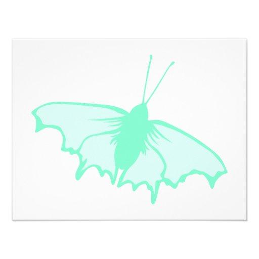Mariposa de la verde menta comunicados personalizados