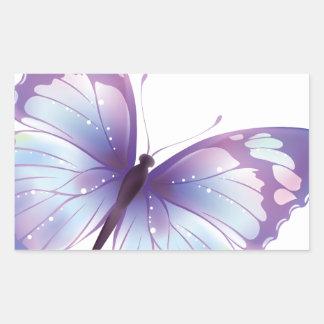 mariposa de Mira Pegatina Rectangular
