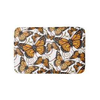 Mariposa de monarca alfombrilla de baño