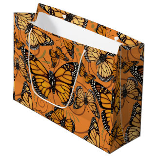 Mariposa de monarca bolsa de regalo grande