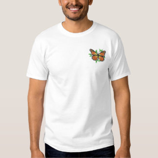 Mariposa de monarca camiseta bordada