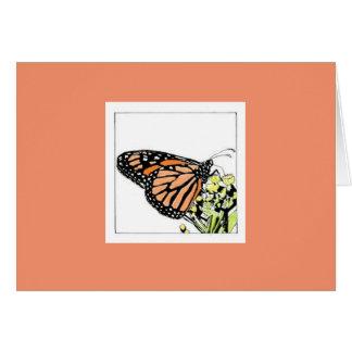 Mariposa de monarca (Colorized) Tarjeta Pequeña