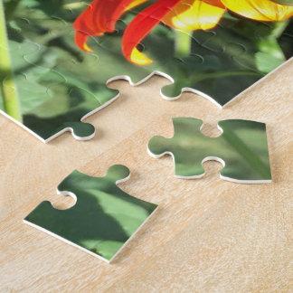 Mariposa de monarca en el girasol mexicano puzzle