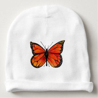 Mariposa de monarca en el gorra de la gorrita gorrito para bebe