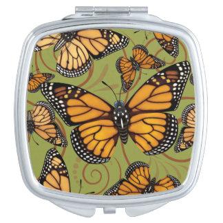 Mariposa de monarca espejos maquillaje