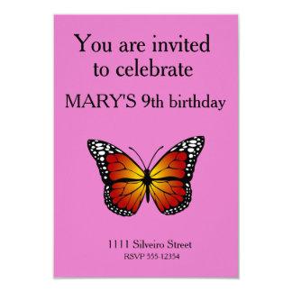 Mariposa de monarca invitación 8,9 x 12,7 cm