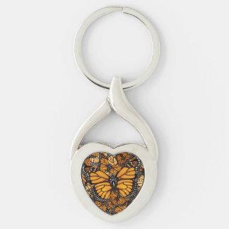 Mariposa de monarca llavero