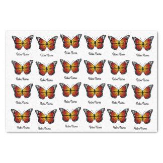 Mariposa de monarca papel de seda
