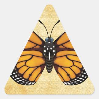 Mariposa de monarca pegatina triangular