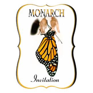 Mariposa de monarca recién nacida con el capullo - invitación 12,7 x 17,8 cm