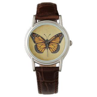 Mariposa de monarca reloj de pulsera