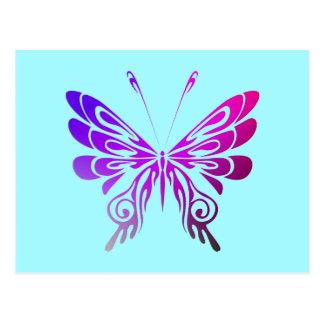 Mariposa decorativa multicolora bonita postal