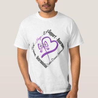 Mariposa del amor de la esperanza de la fe - camisetas
