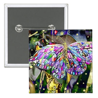 Mariposa del Año Nuevo, imán Pin