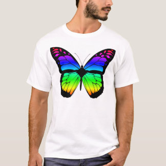 Mariposa del arco iris camiseta