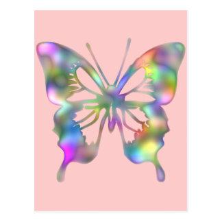 Mariposa del arco iris postal