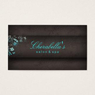 Mariposa del balneario de la tarjeta de visita del