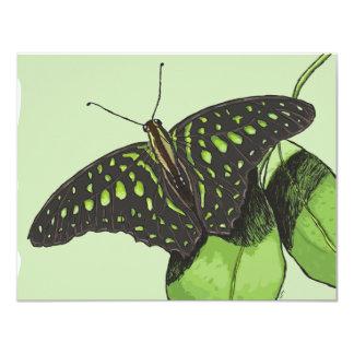 Mariposa del camuflaje de la naturaleza comunicado personalizado