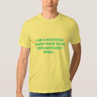 Mariposa del diente del sable camiseta