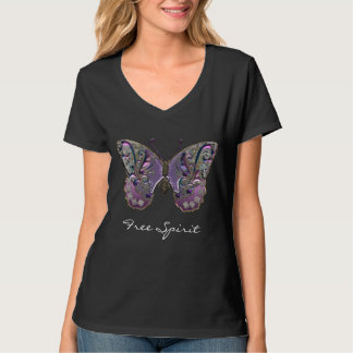 Mariposa del espíritu libre camiseta