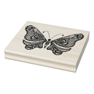 Mariposa del estilo sello de caucho