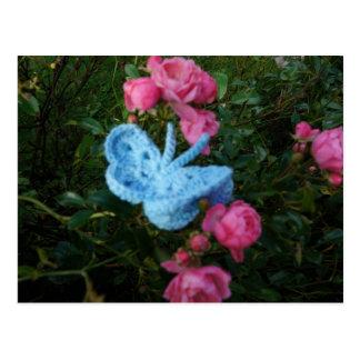 Mariposa del ganchillo postal