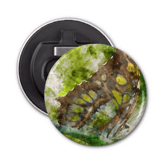 mariposa del malachit abrebotellas redondo