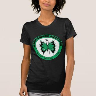 Mariposa del superviviente del cáncer de hígado camisetas