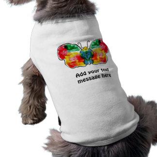 Mariposa - diseño de la plantilla del paisaje camisa de mascota