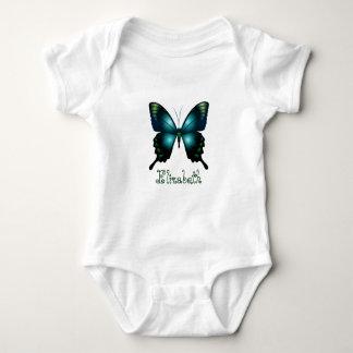 Mariposa elegante de la aguamarina body para bebé