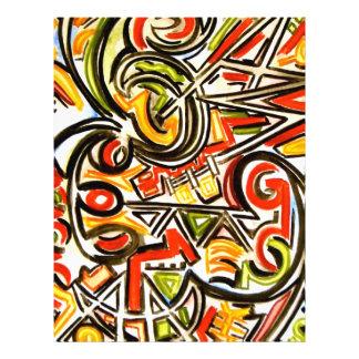 Mariposa emergente - arte abstracto folleto 21,6 x 28 cm