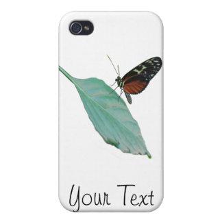 Mariposa en el caso del iPhone 4 de la hoja iPhone 4 Carcasas