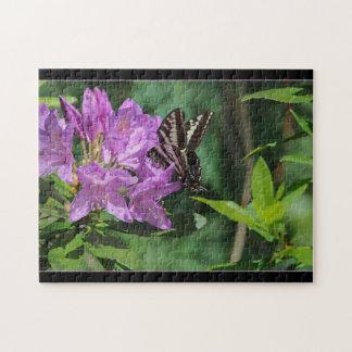 Mariposa en el rododendro - rompecabezas