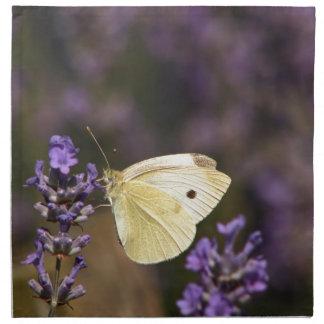 Mariposa en la lavanda servilleta de tela