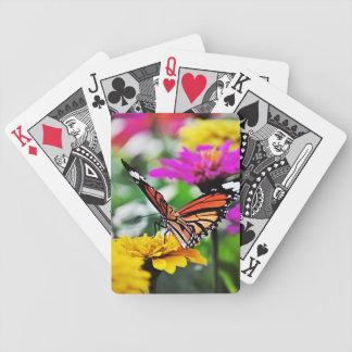 Mariposa en las flores #2 baraja de cartas bicycle