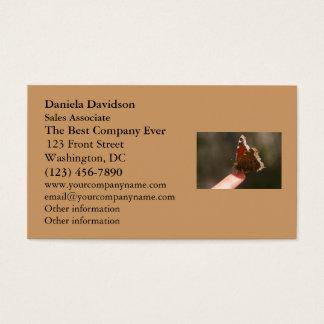 Mariposa en mi dedo tarjeta de negocios