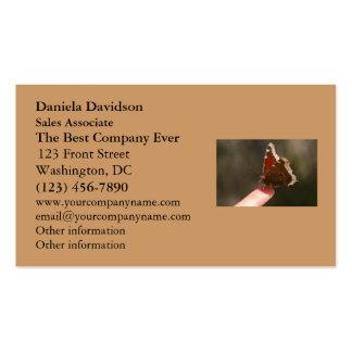 Mariposa en mi dedo tarjetas de visita