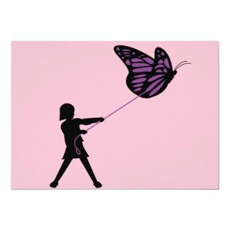 Mariposa en un correo invitación 12,7 x 17,8 cm