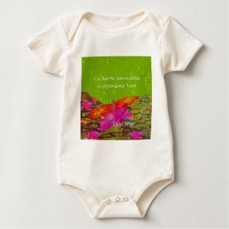 Mariposa en una charca body para bebé