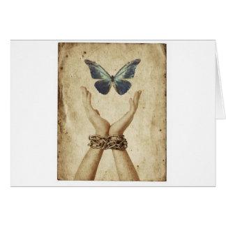 Mariposa encadenada tarjeta